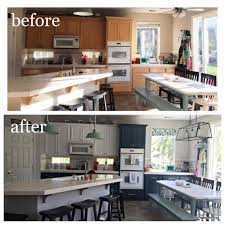 Navy And White Kitchen Cabinet Painting Life Rearranged - Navy kitchen cabinets