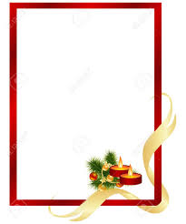 red frame with christmas decorations royalty free cliparts