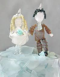 glass wedding cake toppers cake topper weddbook