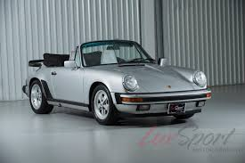 silver porsche convertible 1989 porsche 911 carrera anniversary cabriolet carrera stock