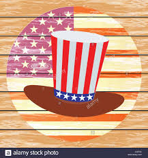 American Flag In Text The Hat Of The American Flags On The Background Of The American