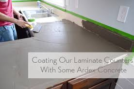 Cement Kitchen Countertops Trying Our Hand At Diy Ardex Concrete Counters Young House Love