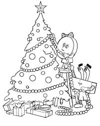 Merry Christmas Tree Coloring Page Cheminee Website Hello Tree Coloring Page