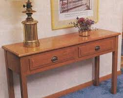 Hall Table Plans Hall Stand Etsy
