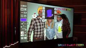 digital photo booth spray paint wall digital graffiti wall photo booth features