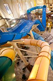 ride the hydro plunge at great wolf lodge indoor waterpark as part