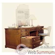bureau avec caisson dossier suspendu bureau amiral dessus cuir époque 19ème avec caisson pour dossier