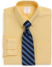 light yellow mens dress shirt brooks brothers non iron madison fit brookscool button down collar