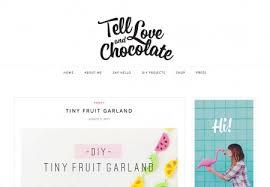 tell love and chocolate home decor blog wordpress theme designed