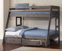 Bunk Bed Options Wrangle Hill 400830 Bunk Bed In Gun Smoke By Coaster W Options