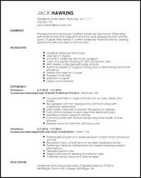 technical resume templates free entry level veterinary technician resume template resumenow