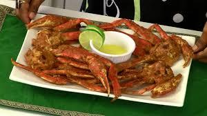 grilled alaskan snow crab or tandoori crabs recipe youtube