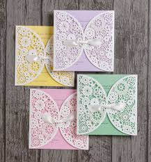 Vintage Lace Wedding Invitations Vintage Lace Laser Cut Personalised Wedding Invitation From 1 75 Each
