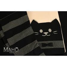 tattoo cat neko cute knee high print tattoo stockings with nude top cat neko