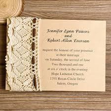 diy rustic wedding invitations lace wedding invitations
