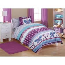 bedroom girls purple bedding slate pillows table lamps girls