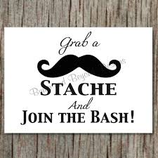 mustache party mustache party sign grab a stache and join the bash