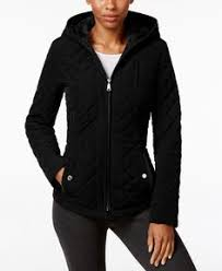 laundry design coat laundry by design hooded quilted jacket coats women macy s