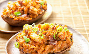 Potatoes As Main Dish - bacon shrimp stuffed sweet potatoes paleo leap