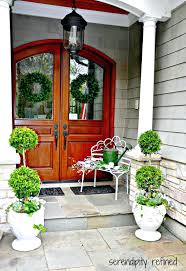 front door topiary trees ideas christmas smart ways to personalize