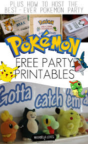 free pokemon party printables pokémon party pinterest