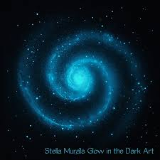 glow in the dark star ceiling poster large spiral by stellamurals
