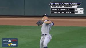 Aaron Judge Made His Mlb Debut In Center Field - yankees aaron judge gets out on 97 mph throw mlb com