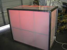 bar rentals acrylic lighted bar houston tx event rentals