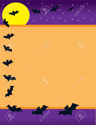 halloween border vector a halloween background with a bright yellow moon stars and a