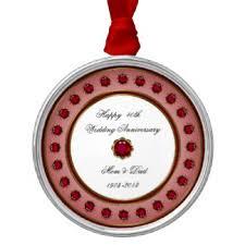 wedding anniversary ornaments 40th anniversary ornaments keepsake ornaments zazzle