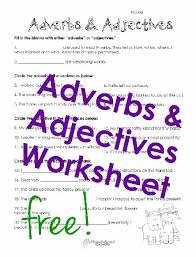 Adjectives And Adverbs Worksheet Adverbs Adjectives Worksheet Squarehead Teachers