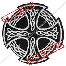 3 black white celtic cross pride pagan biker vest