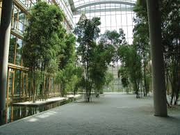 a series of large atriums create an indoor heaven at the lufthansa