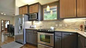 different color kitchen cabinets different color kitchen cabinets two tone kitchen cabinets brown and