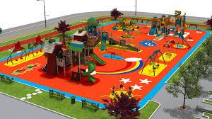 playground design a 3d concept design of 9500m2 playground park kent mobilyaları
