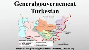 Turkestan Map Generalgouvernement Turkestan Youtube