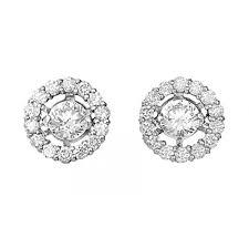 diamond earrings design rhythm of 18ct 0 78ct halo design diamond stud earrings