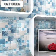 blue sea glass tile backsplash sea shell blue glass mosaic tile