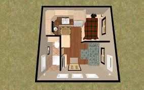 Tiny Cabin Plans by 3d Top View Of The 196 Sq Ft 3 Bed Chatterbox Micro Homes Under
