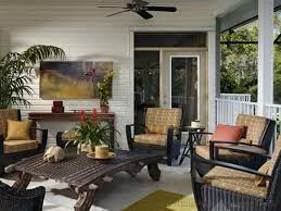 exciting porch design for your home combine with wicker pedestal