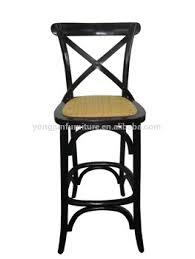 X Back Bistro Chair Hot Sale Bar Chairs Cross Back Bar Stool High Chair Wood Bar Chair