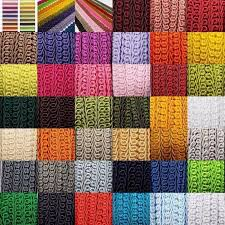 Torres Upholstery 39 Colour Beautiful Quality 15mm Double Scroll Gimp Braid Trim