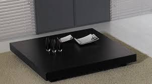 Modern Center Table For Living Room Modrest T35 Modern Black Oak Coffee Table Coffee Tables Living