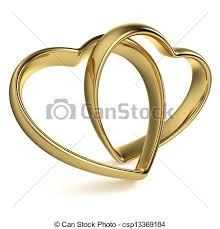 golden heart rings images Heart shaped wedding rings golden rings in the shape of a jpg