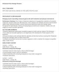 Resume Hotel Job by 100 Restaurant Job Resume Assistant Restaurant Manager