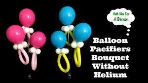 balloon pacifiers bouquet without helium baby shower decoration