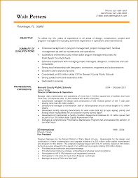 Program Manager Resumes Cozy Resume For Construction 5 Construction Manager Resume Example