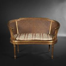 canape louis xvi caned canape with arched back louis xvi style expertissim