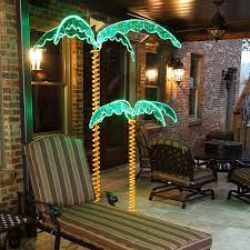 Patio String Lighting by Amazon Com 7 U0027 Deluxe Tropical Led Light Palm Tree With