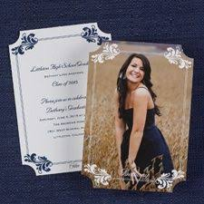 sided graduation announcements college graduation announcements invitations with fancy flourishes